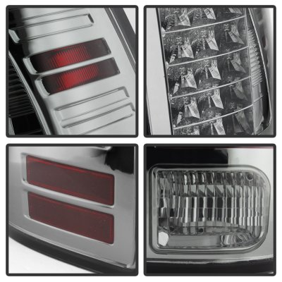 Dodge Ram 3500 2013-2018 Smoked LED Tail Lights