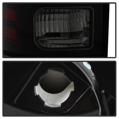 Dodge Ram 2500 2013-2018 Black Smoked LED Tail Lights SS-Series