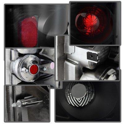 Dodge Ram 2002-2006 Black Smoked Altezza Tail Lights