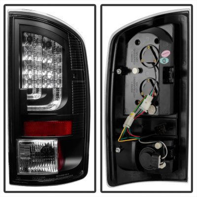 Dodge Ram 2002-2006 Black LED Tail Lights