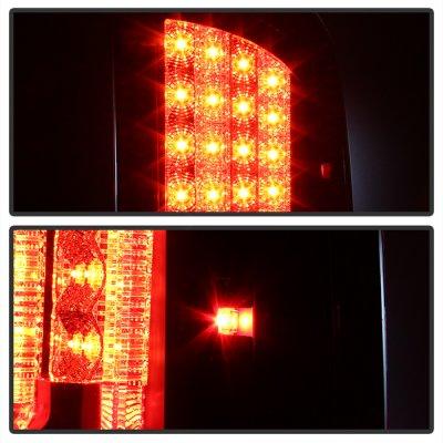 Dodge Ram 2500 2003-2006 Black LED Tail Lights