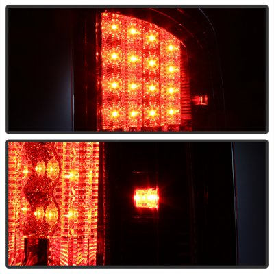Dodge Ram 2500 2003-2006 Red Clear LED Tail Lights