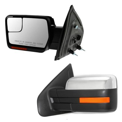 Ford F150 2007-2014 Chrome Power Heated LED Signal Side Mirrors
