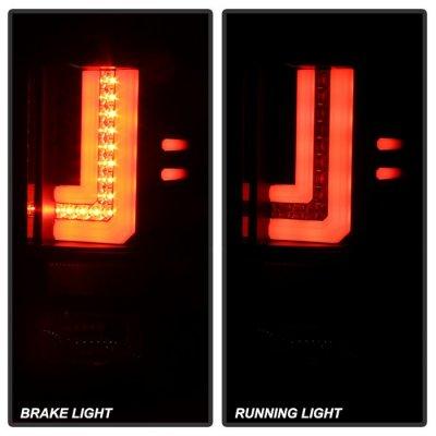 GMC Sierra 2014-2018 Black L-Tube LED Tail Lights