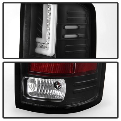 GMC Sierra 3500HD 2015-2018 Black L-Tube LED Tail Lights