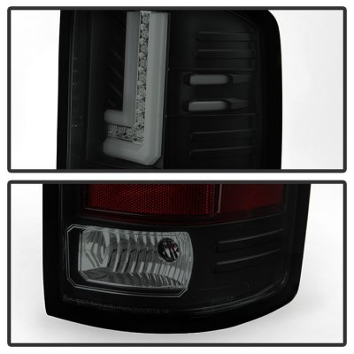 GMC Sierra 2014-2018 Black Smoked L-Tube LED Tail Lights