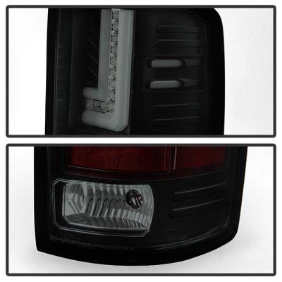 GMC Sierra 3500HD 2015-2018 Black Smoked L-Tube LED Tail Lights