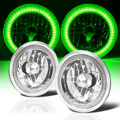 Jeep Wrangler JK 2007-2017 Headlights Conversion Green SMD LED Halo