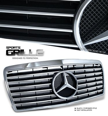 Mercedes Benz E Class 1994-1995 Chrome Sport Grille