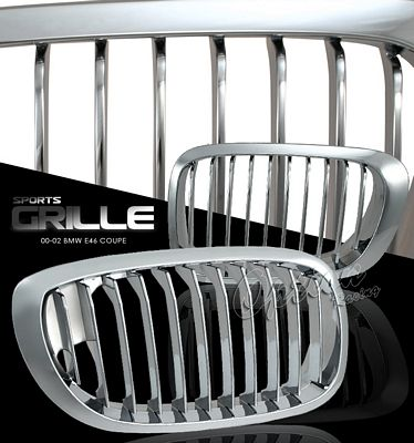 BMW E46 Coupe 3 Series 2000-2002 Chrome Sport Grille