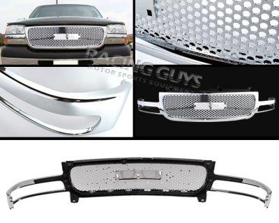 gmc yukon 2000 2006 front grill chrome punch style. Black Bedroom Furniture Sets. Home Design Ideas