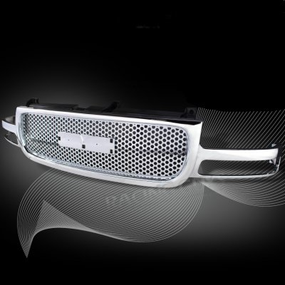 Gmc Yukon 2000 2006 Front Grill Chrome Punch Style