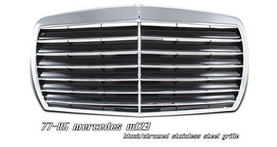 Mercedes Benz E Class 1977-1985 Black Stainless Steel Sport Grille