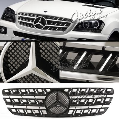 Mercedes Benz M Class 1998-2005 Chrome Trim Black Sport Grille with Emblem