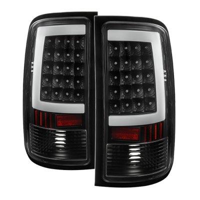 GMC Sierra 2007-2013 Black LED Tube Tail Lights