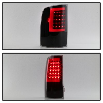 GMC Sierra 2007-2013 Black Smoked LED Tail Lights