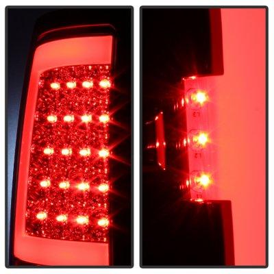 GMC Sierra 2007-2013 Clear Tube LED Tail Lights