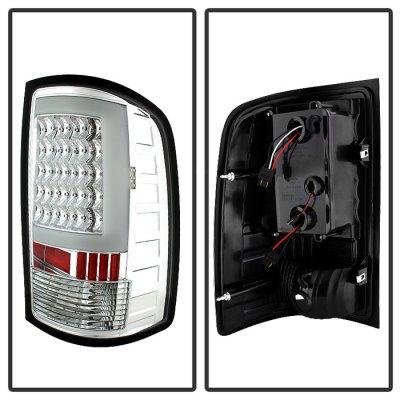 GMC Sierra 2500HD 2007-2014 Clear Tube LED Tail Lights