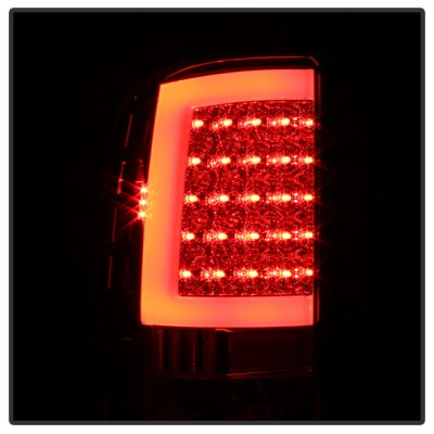 GMC Sierra 2007-2013 Red Clear LED Tail Lights Tube