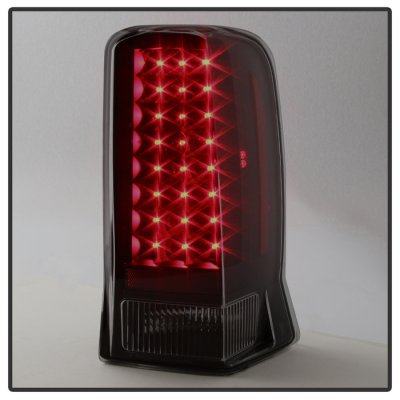 Cadillac Escalade 2002-2006 Black Smoked LED Tail Lights