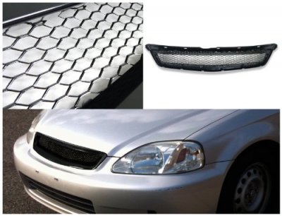 Honda Civic 1999-2000 Black Type R Style Sport Grille