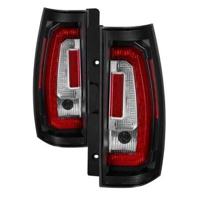 GMC Yukon 2007-2014 Black LED Tail Lights Tube