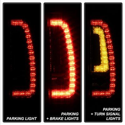 GMC Yukon 2007-2014 Black Smoked LED Tail Lights Tube