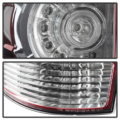 Toyota Tacoma 2005-2015 Red Clear LED Tail Lights