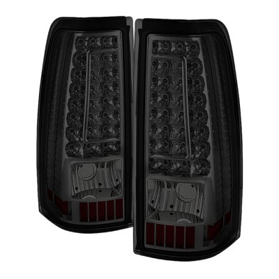 Chevy Silverado 2500HD 2003-2006 Smoked LED DRL Headlights Set Custom LED Tail Lights