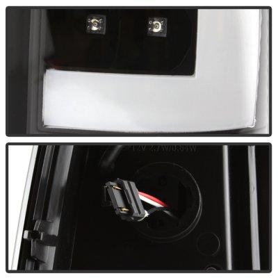 Chevy Silverado 1999-2002 Black LED Tail Lights C-Tube