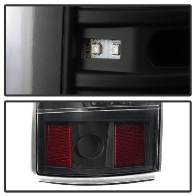 Chevy Silverado 1999-2002 Black Full LED Tail Lights C-DRL