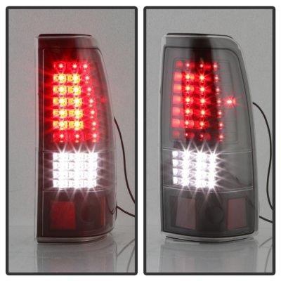 GMC Sierra 1999-2006 Black Full LED Tail Lights C-DRL