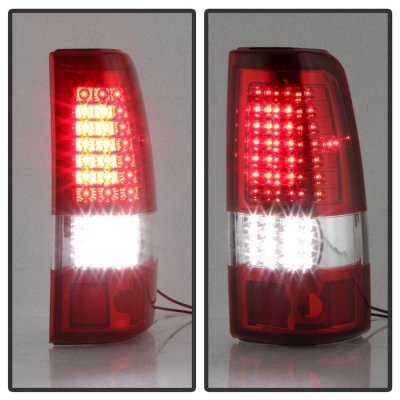 Chevy Silverado 1999-2002 Full LED Tail Lights C-DRL