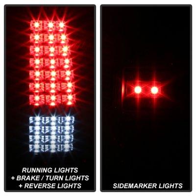 Chevy Silverado 2500 1999-2002 Black Full LED Tail Lights