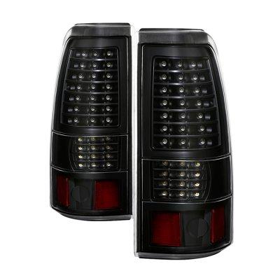 GMC Sierra 1999-2006 Black Full LED Tail Lights