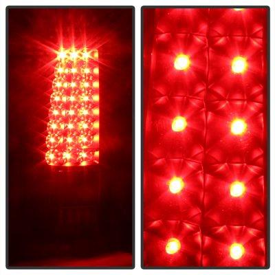 Chevy Silverado 1999-2002 Black LED Tail Lights C-DRL