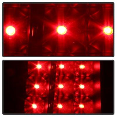 Chevy Silverado 1999-2002 Black Smoked LED Tail Lights C-DRL