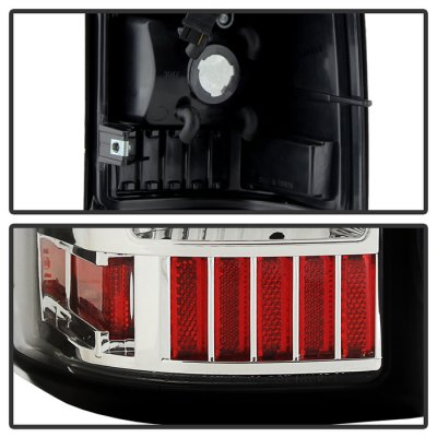 Chevy Silverado 1999-2002 Clear LED Tail Lights C-DRL