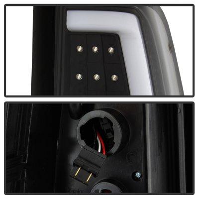Chevy Silverado 1999-2002 Black LED Tail Lights Neon Tube