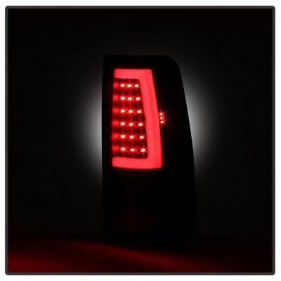 GMC Sierra 3500 2001-2006 Black LED Tail Lights Neon Tube