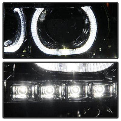Chevy Silverado 2500HD 2007-2014 Halo LED DRL Projector Headlights