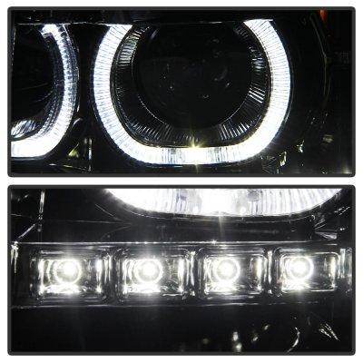 Chevy Silverado 2500HD 2007-2014 Halo LED DRL Projector Headlights
