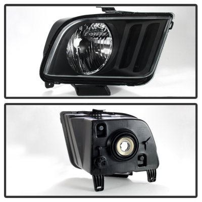 Ford Mustang 2005-2009 Black Headlights