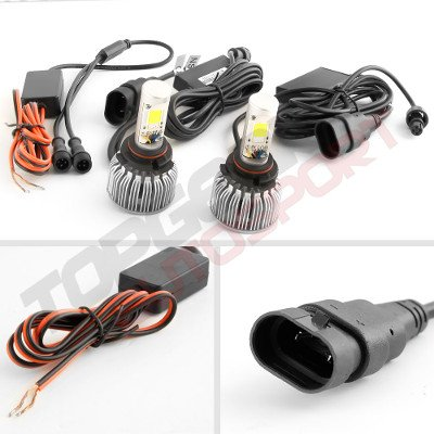 Jeep Wrangler YJ 1987-1995 H4 Color LED Headlight Bulbs App Remote