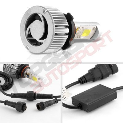 GMC Savana 1996-2004 H4 Color LED Headlight Bulbs App Remote