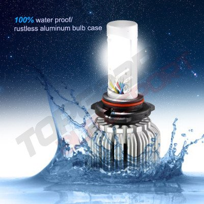 1971 Chevy Caprice H4 Color LED Headlight Bulbs App Remote