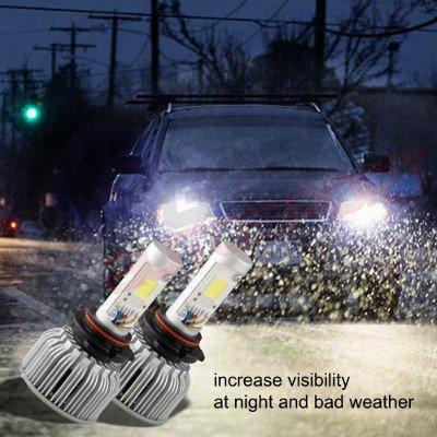 Jeep Wrangler 1997-2006 H4 Color LED Headlight Bulbs App Remote