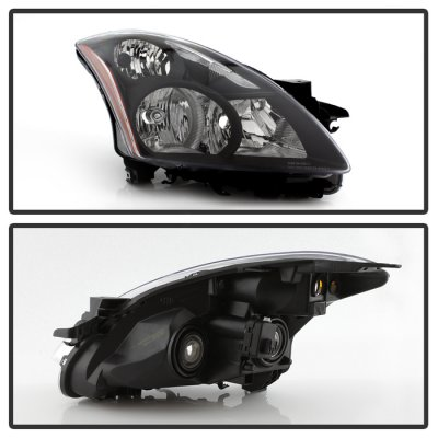 Nissan Altima Sedan 2010-2012 Black Headlights