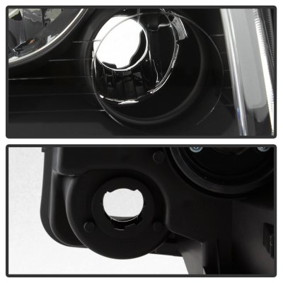 Dodge Charger 2005-2010 Black Headlights Corner Lights