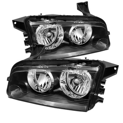 Dodge Charger 2006-2010 Black Headlights